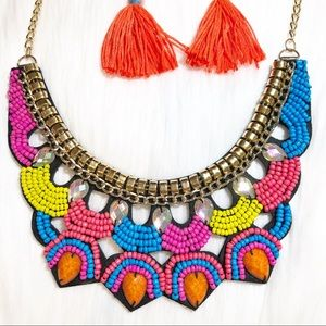 New Hand Crafted Necklace Free Tassel earrings